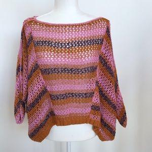 Free People pink, orange knitted sweater